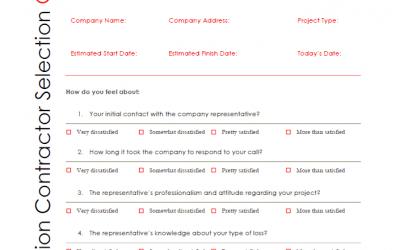 Constructeam's Restoration Contractor Checklist