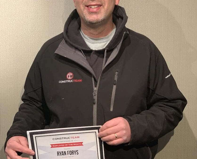 Employee of the Month – Ryan Forys – March 2019