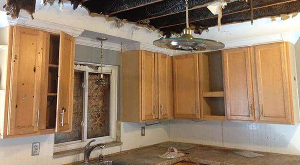 fire & smoke damage cupboards in home