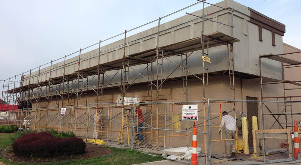 commercial remodeling of outside of building