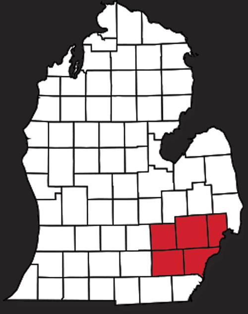 Service Areas in Metro Detroit