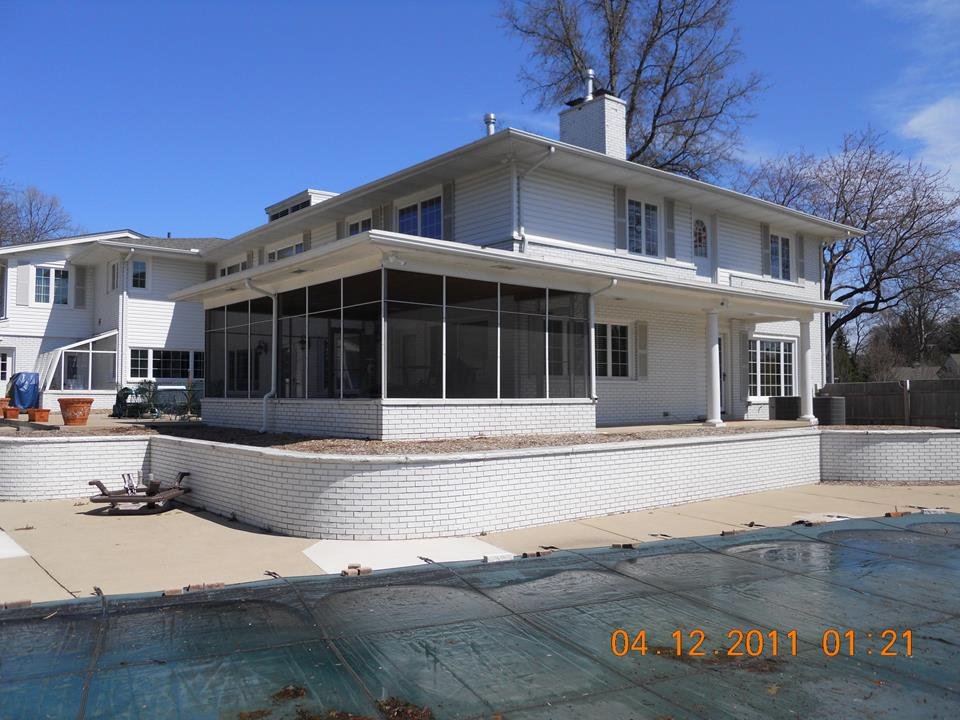 Before-Grosse Pointe Shores Exterior Remodel